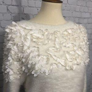 CeCe ivory embellished sweater